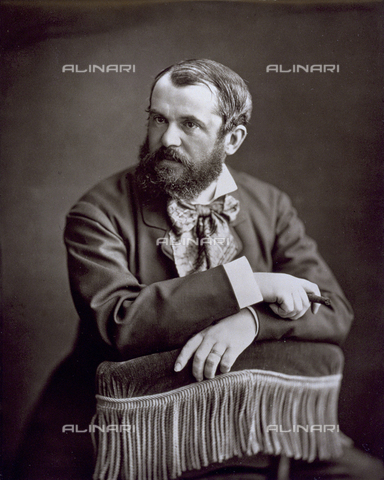 PDC-S-001528-0007 - Half-length portrait of the French writer Gustave Droz - Date of photography: 1872 -1885 ca. - Alinari Archives-Palazzoli Collection, Florence