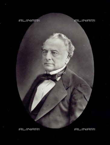 PDC-S-001528-0008 - Half-length portrait of the French politician Isaac Péreire - Date of photography: 1872 -1885 ca. - Alinari Archives-Palazzoli Collection, Florence