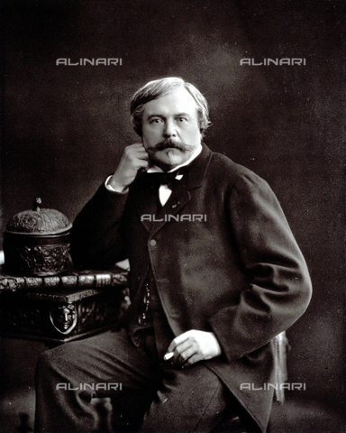 PDC-S-001528-0009 - Half-length portrait of the French writer Edmond de Goncourt - Date of photography: 1872 -1885 ca. - Alinari Archives-Palazzoli Collection, Florence