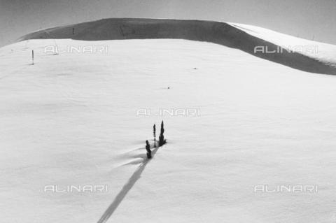 PFA-F-001567-0000 - Montagna innevata di Celerina, Engadina, Canton dei Grigioni, Svizzera - Data dello scatto: 03/1995 - Archivi Alinari, Firenze