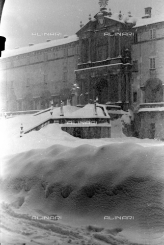 PTA-S-001072-2001 - Snowfall on the Sanctuary of Oropa - Date of photography: 1940 ca. - Fratelli Alinari Museum Collections-Pasta Archive, Florence