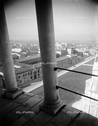 PTA-S-001302-0008 - View from the leaning tower, Pisa - Date of photography: 1930-1940 - Fratelli Alinari Museum Collections-Pasta Archive, Florence