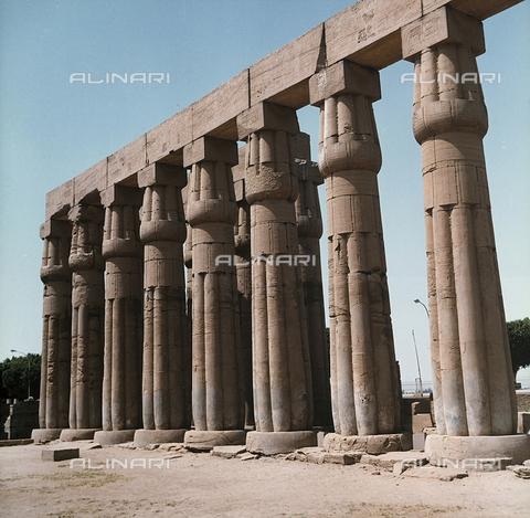 RAD-F-000237-0000 - Il grande Colonnato con le tipiche colonne papiriformi del Tempio di Luxor, nell'Alto Egitto - Data dello scatto: 1970 ca. - Raccolte Museali Fratelli Alinari (RMFA)-donazione Ronchetti, Firenze