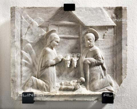 RAN-F-000311-0000 - Natività, rilievo in marmo, Chiesa di San Zenone, Campione d'Italia - Data dello scatto: 2007 - Archivio Mauro Ranzani / Archivi Alinari