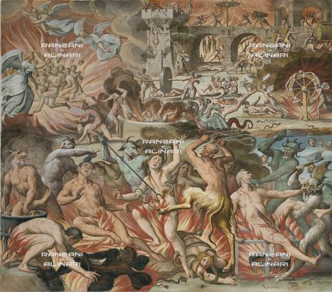 RAN-F-001561-0000 - Inferno,affresco, Giovanni Mauro della Rovere detto Fiammenghino, Chiesa di Sant'Eusebio, Peglio, Como