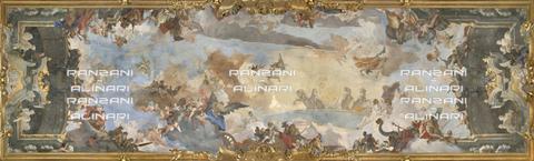 RAN-F-001825-0000 - Milano-Palazzo Clerici-Galleria degli Arazzi-Volta-La corsa del Carro del sole tra divinità dell'Olimpo
