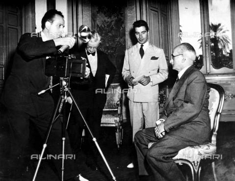 RCB-F-012219-0000 - Intervista a Luigi Einaudi - Data dello scatto: 1948 ca. - Archivio Bruni/Gestione Archivi Alinari, Firenze