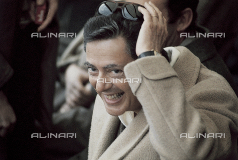 RCS-S-E14957-0001 - Umberto Agnelli in the stands of the Torino Stadium during a football match - Data dello scatto: 1980 ca. - RCS/Alinari Archives Management, Florence