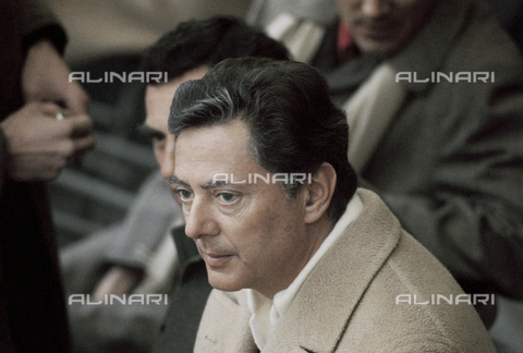RCS-S-E14957-0002 - Umberto Agnelli in the stands of the Torino Stadium during a football match - Data dello scatto: 1980 ca. - RCS/Alinari Archives Management, Florence