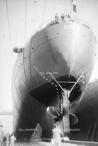 RCT-S-016433-1142 - Il varo della nave Caboto - Archivio Toscani/Gestione Archivi Alinari, Firenze