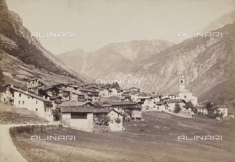 RDC-F-001294-0000 - Panorama of the town of Lanzada in the province of Sondrio - Data dello scatto: 1880 ca. - Archivi Alinari, Firenze