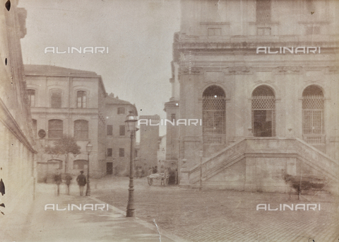 REA-F-000163-0000 - Largo Magnanapoli a Roma con la Chiesa di Santa Caterina a Magnanapoli - Data dello scatto: 1880-1890 ca. - Archivi Alinari, Firenze