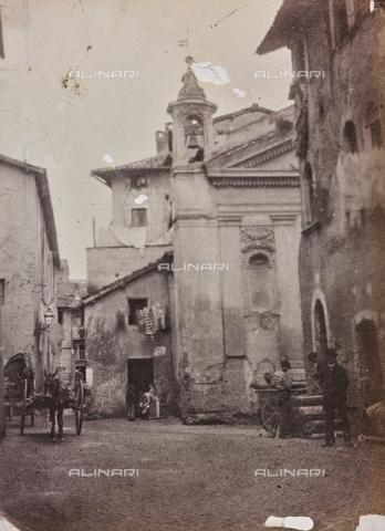 REA-F-000203-0000 - La Chiesa di Santa Bonosa a Trastevere,  Roma. La chiesa fu distrutta nel 1888 - Data dello scatto: 1880-1888 ca. - Archivi Alinari, Firenze