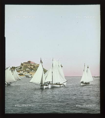 RGD-S-000036-2669 - Sailboats of the Royal Navy during a race in Portoferraio, Elba Island - Data dello scatto: 08/1897 - Archivi Alinari, Firenze