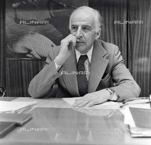 RNA-F-091548-0000 - The physicist Bruno Pontecorvo (1913-1993), head of the Department of Physics at the Institute of Nuclear Studies in Dubna - Data dello scatto: 01/01/1985 - Sputnik/ Alinari Archives