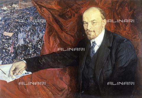 RNA-F-139224-0000 - Lenin (Vladimir Ilic Uljanov) and the manifestation, painting, Joseph Brodsky (1883-1939) - Data dello scatto: 19/12/1980 - Sputnik/ Alinari Archives