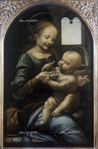 RNA-F-532492-0000 - Madonna Benois, called Madonna del Fiore, oil on canvas, Leonardo da Vinci (1452-1519), Hermitage Museum, St. Petersburg - Data dello scatto: 1972 - Sputnik/ Alinari Archives
