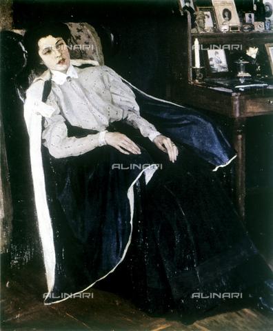 RNA-F-552250-0000 - Portrait of O. M. Nesterova the artist's daughter, painted, Mikhail Nesterov (1862-1942) - Data dello scatto: 01/01/1993 - Sputnik/ Alinari Archives