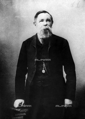 RNA-F-743584-0000 - Portrait of Frederick Engels, reproduction of a painting, the Museum of Karl Marx and Frederick Engels, Moscow - Sputnik/ Alinari Archives