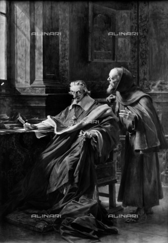 RVA-S-004924-0008 - Cardinal Richelieu (1585-1642) and father Giuseppe (1577-1638), Théobald Chartran (1849-1907), oil on canvas - Neurdein / Roger-Viollet/Alinari