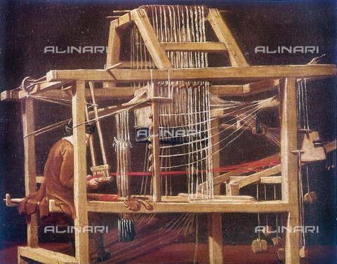 RVA-S-007442-0001 - Telaio per la filatura, scuola veneziana del XVII secolo, Museo Correr, Venezia - Roger-Viollet/Alinari