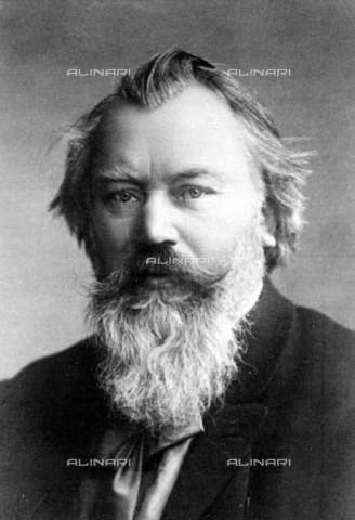RVA-S-009025-0016 - The German composer and conductor Johannes Brahms (1833-1897) - Roger-Viollet/Alinari