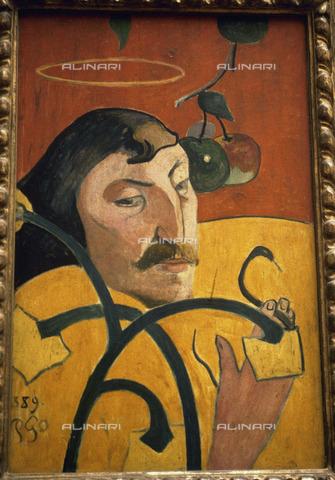 RVA-S-013243-0006 - Autoritratto su legno, 1889, Paul Gauguin (1848-1903), National Gallery of Art, Washington - Roger-Viollet/Alinari