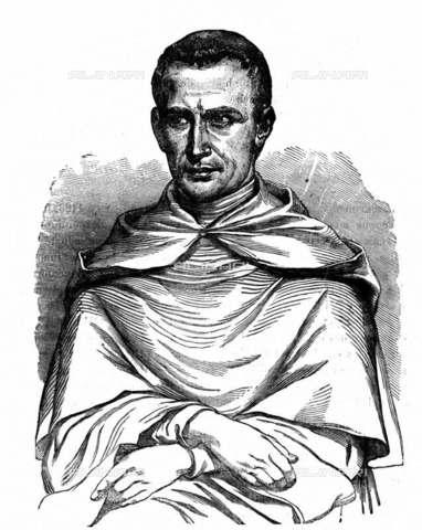 RVA-S-015021-0001 - Pietro di Castelnau (1170–1208) monaco, legato pontificio, inviato da Innocenzo III per combattere l'eresia catara - Roger-Viollet/Alinari