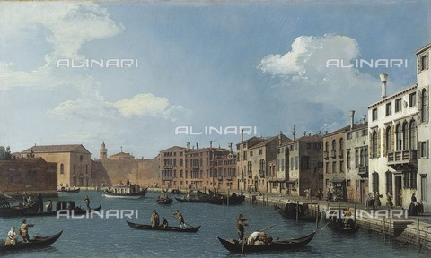 RVA-S-024591-0007 - View of the Santa Chiara Canal in Venice, oil on canvas, Giovanni Antonio Canal known as Canaletto (1697-1768), Musée Cognacq-Jay, Paris - Musée Cognacq-Jay / Roger-Viollet/Alinari