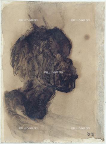 """RVA-S-025608-0003 - Victor Hugo (1802-1885) """"Nègre"""", drawing. Paris, Maison Victor Hugo. - Maisons de Victor Hugo / Roger-Viollet/Alinari"""