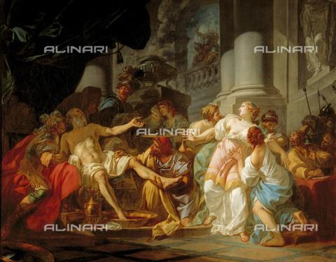RVA-S-026986-0003 - La morte di Seneca, olio su tela, David, Jacques Louis (1748-1825), Musée des Beaux-Arts de la Ville de Paris, Petit Palais, Parigi - Roger-Viollet/Alinari, Petit Palais