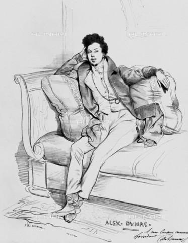 RVA-S-033516-0003 - Ritratto di Alexandre Dumas (1802-1870), disegno, Achille Deveria (1800-1857), Musée Carnavalet, Parigi - Musée Carnavalet / Roger-Viollet/Alinari