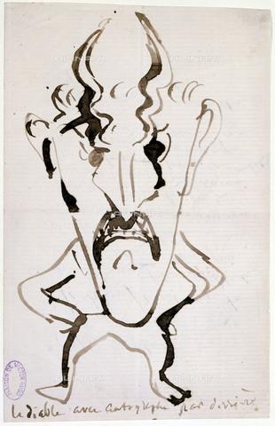 RVA-S-034689-0011 - Victor Hugo (1802-1885). Album which belonged to Juliette Drouet: The devil (folio 24). Paris, Maison de Victor Hugo - Maisons de Victor Hugo / Roger-Viollet/Alinari