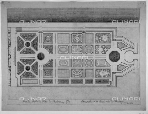 RVA-S-046577-0016 - Pianta del giardino de Les Tuileries a Parigi, incisione, Arte del XVII sec., Musée Carnavalet, Parigi - Musée Carnavalet / Roger-Viollet/Alinari