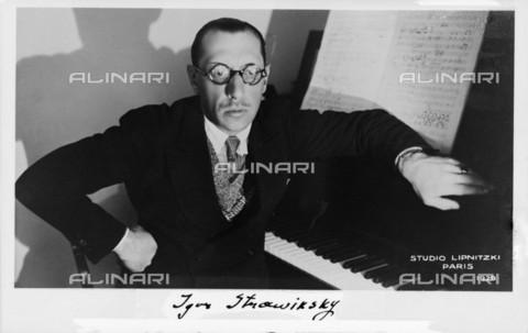 RVA-S-054247-0012 - Il compositore russo naturalizzato francese e americano Igor Stravinsky (1882-1971) - Data dello scatto: 06/1924 - Boris Lipnitzki / Roger-Viollet/Alinari
