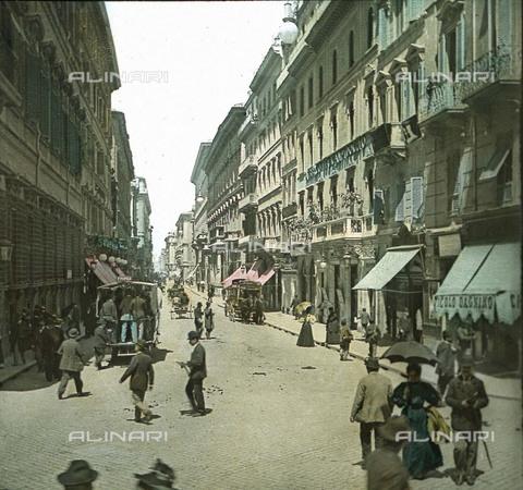 RVA-S-081577-0006 - Veduta animata di via del Corso a Roma - Data dello scatto: 1895 ca. - Léon et Lévy / Roger-Viollet/Alinari