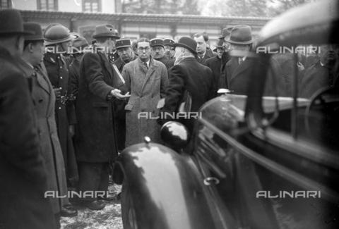 RVA-S-086023-0001 - Jean-Marie Bouvyer, complice dell'omicidio dei fratelli Carlo e Nello Rosselli, due intellettuali antifascisti italiani assassinati il 9 giugno 1937 da membri del C.S.A.R, un'organizzazione segreta di estrema destra, su ordine proveniente dai servizi segreti fascisti - Data dello scatto: 16/02/1938 - Roger-Viollet/Alinari, Excelsior – L'Equipe