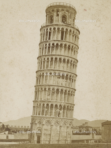 SCC-A-000002-0001 - The bell tower of the Pisa Cathedral, or leaning tower - Data dello scatto: 1855 ca. - Archivi Alinari, Firenze