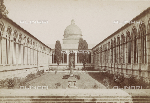 SCC-A-000002-0007 - The interior courtyard of the Pisa Cemetery - Data dello scatto: 1855 ca. - Archivi Alinari, Firenze