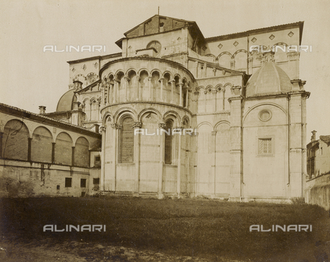 SCC-A-000007-0010 - Abside del Duomo di San Martino a Lucca - Data dello scatto: 1855 ca. - Raccolte Museali Fratelli Alinari (RMFA)-collezione Scarpellini, Firenze