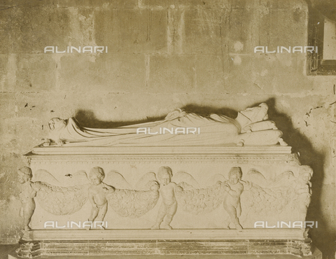 SCC-A-000007-0011 - The Tomb of Ilaria del Carretto, by Jacopo della Quercia, preserved in the Cathedral of San Martino in Lucca - Data dello scatto: 1855 ca. - Archivi Alinari, Firenze