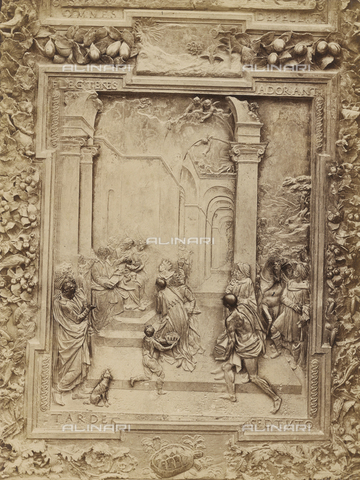 SCC-A-000007-0013 - Adoration of the Magi, detail of the bronze door to the left of the Duomo of Pisa - Data dello scatto: 1855 ca. - Archivi Alinari, Firenze