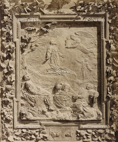 SCC-A-000007-0019 - Agony in the Garden, artwork from the school of Giambologna, panel from the bronze door on the right of the Duomo of Pisa - Data dello scatto: 1855 ca. - Archivi Alinari, Firenze
