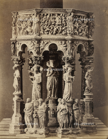 SCC-A-000007-0023 - The pulpit by Giovanni Pisano in Duomo of Pisa - Data dello scatto: 1855 ca. - Archivi Alinari, Firenze