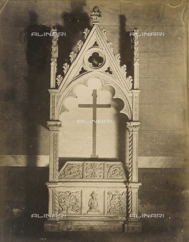 SCC-A-000007-0046 - Monumental sepulchre of Gherardo Compagni; sculpture work from Pisa's school, collocated in St. Catherine's Church in Pisa - Data dello scatto: 1855 ca. - Archivi Alinari, Firenze