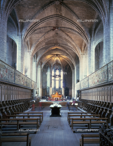 SEA-F-000060-0000 - Interior of the Abbey Church of Saint-Robert in La Chaise-Dieu - Date of photography: 1996 - Seat Archive/Alinari Archives