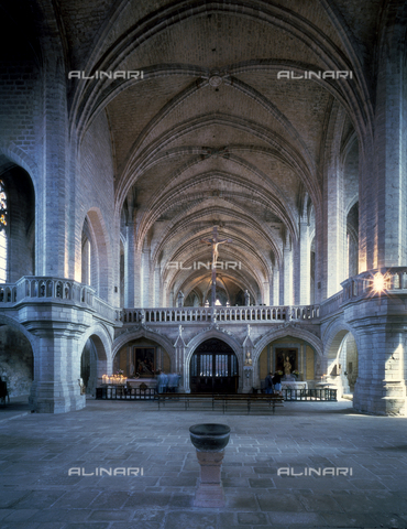 SEA-F-000061-0000 - Interior of the Abbey Church of Saint-Robert in La Chaise-Dieu - Date of photography: 1996 - Seat Archive/Alinari Archives