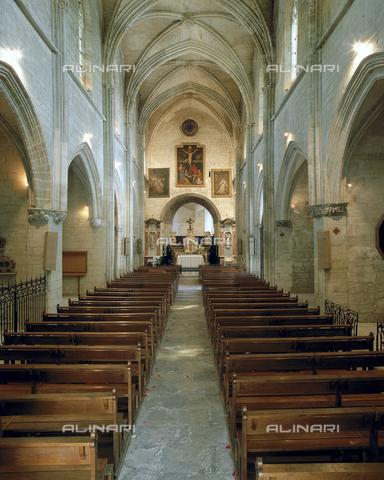 SEA-F-000065-0000 - Interior of the Collegiate Church of Notre-Dame in Villeneuve Les Avignon - Date of photography: 1996 - Seat Archive/Alinari Archives
