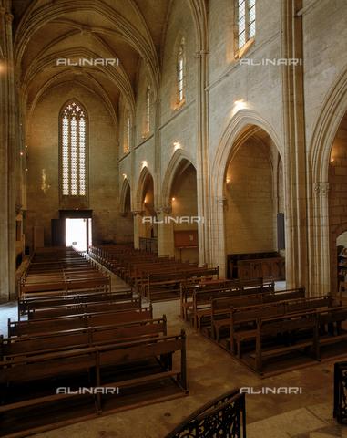 SEA-F-000067-0000 - Interior of the Collegiate Church of Notre-Dame in Villeneuve Les Avignon - Date of photography: 1996 - Seat Archive/Alinari Archives