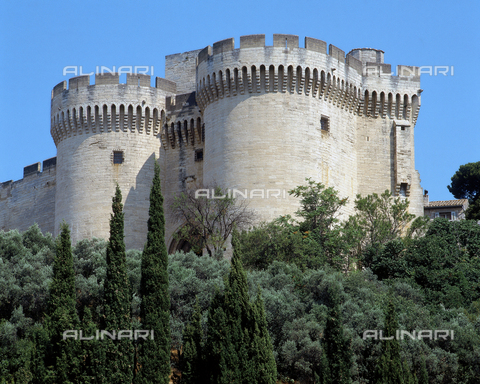 SEA-F-000069-0000 - View of the twin towers of Fort Saint-André in Villeneuve Les Avignon - Date of photography: 1996 - Seat Archive/Alinari Archives